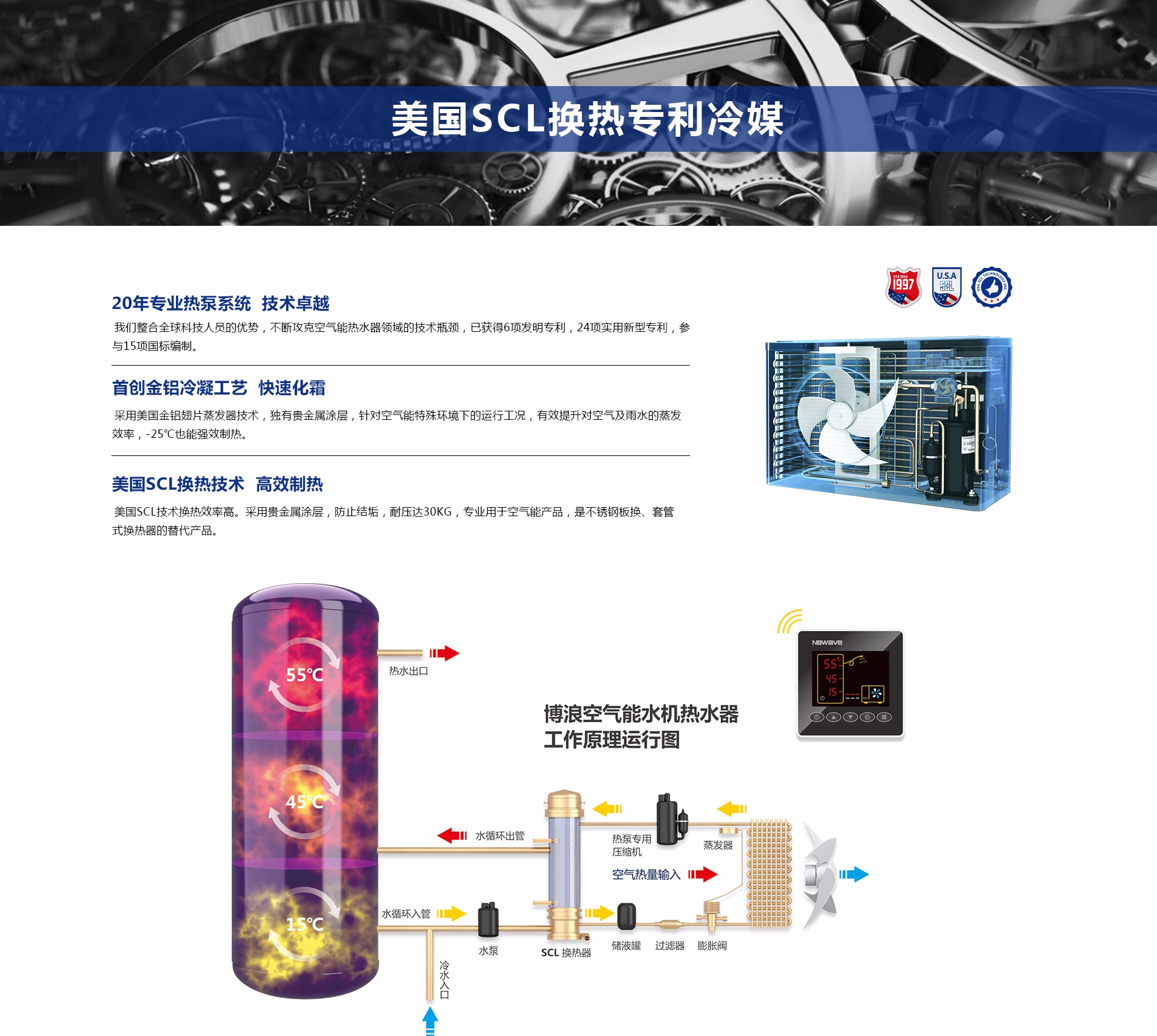美国SCL换热专利冷媒