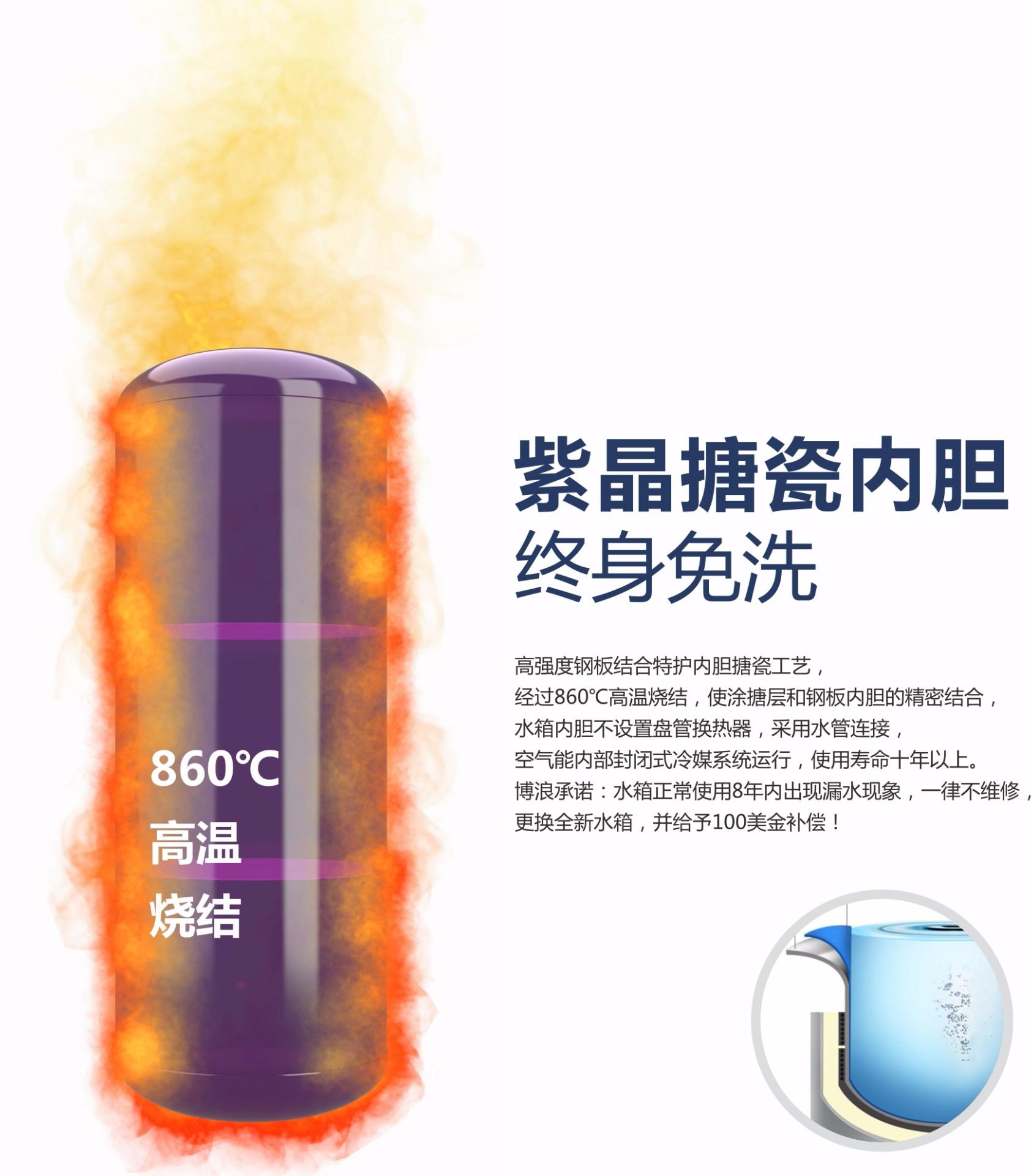博浪紫晶搪瓷内胆水箱