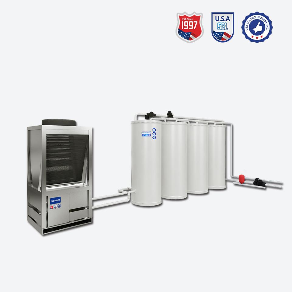 博浪空气能模块承压热水系统